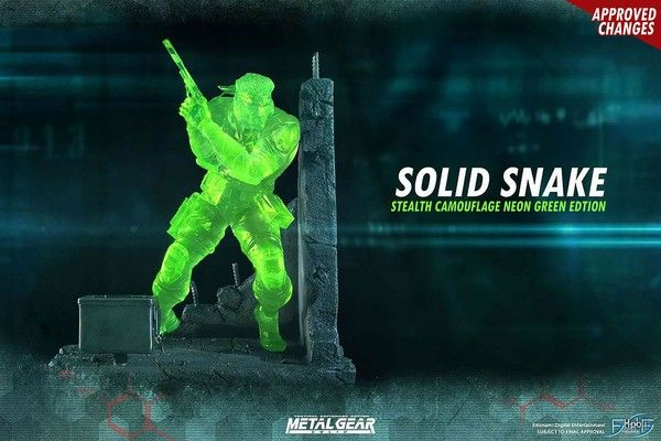 MGS 索利德・斯内克 Stealth Camouflage Neon Green Edition