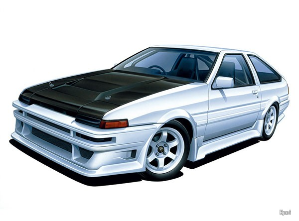 The Tuned Car No.45 1/24 Car Boutique Club 丰田 AE86 Trueno '85